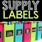 Organize your classroom with this set of stylish supply labels. Featuring white text over a bold black background with a simple row of polka dots a...