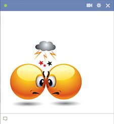 Hostile emoticons filled with hatred