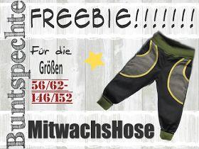 Buntspechte: MitWachsHose Freebie