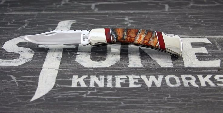 Customized Buck Knife 110 Fossil Series By: Stone Knifeworks