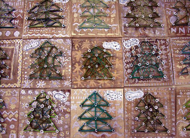 Christmas wool tree by Fem Manuals!, via Flickr
