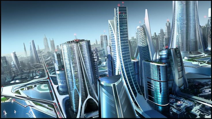 Futuristic City, Future City Too by RobertDBrown on deviantART, Future Architecture