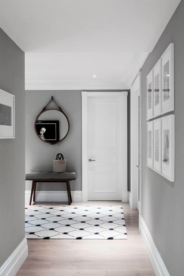 Rodapé Branco + parede cinza