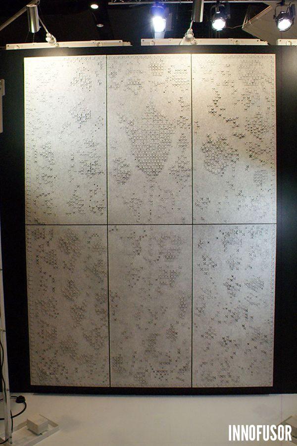Gran Ru Pori acoustic wall art prototype at Stockholm Furniture Fair 2014. See more at www.granru.com. #Scandinavian #Design #Innofusor #Acoustics