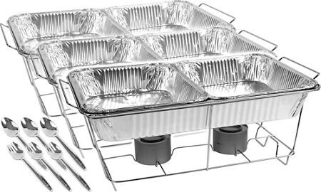 Buffet Chafing Dish Set 24pc - Party City