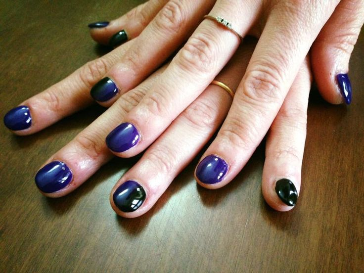 #nails #madebyme #purple #black #degradee #unghieonicofagiche
