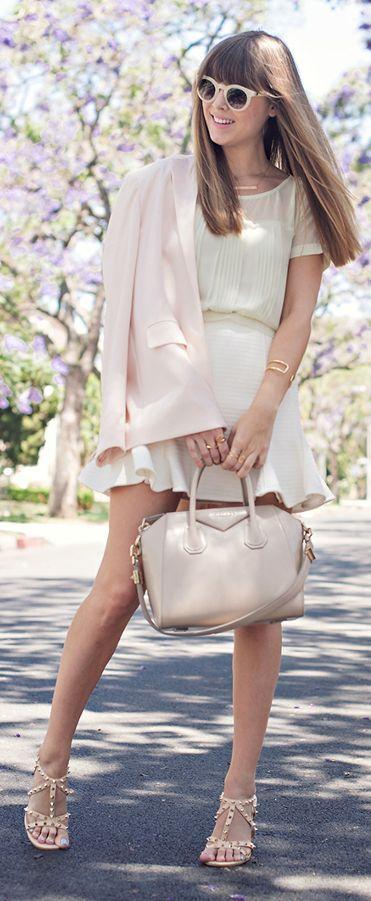 Pastel Pink Women's Street Chic Blazer