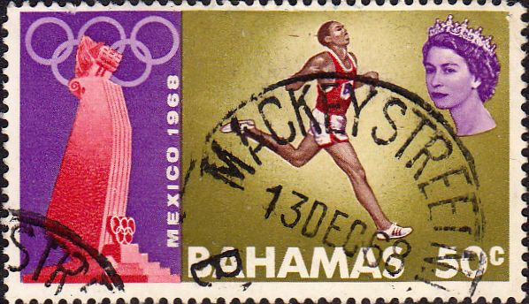 Postage Stamps Bahamas 1968 Mexico Olympic Games SG 319 Fine Used For sale Take a Look