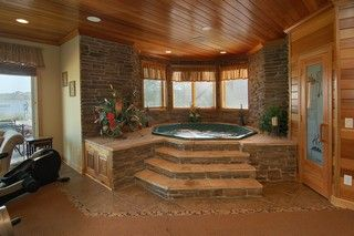 Indoor hot tub..I'm cool with that