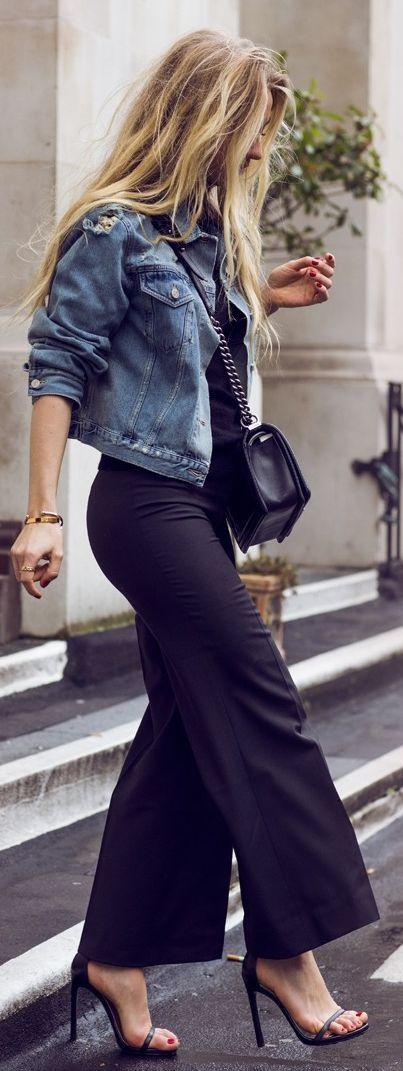 Acne Black Flared Pants #Black Pants
