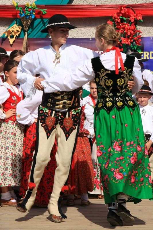 Folk costumes from Podhale region, Poland.