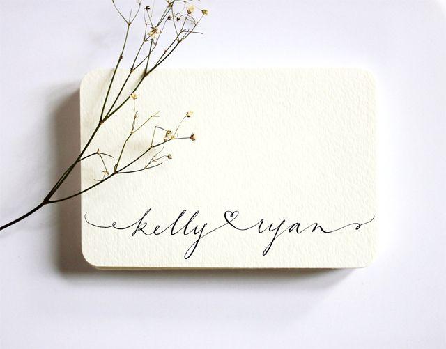 Plum Tree Weddings | Wedding blog featuring simple stylish modern wedding ideas: Midweek Etsy Find - Custom Calligraphy by Hazel Wonderland