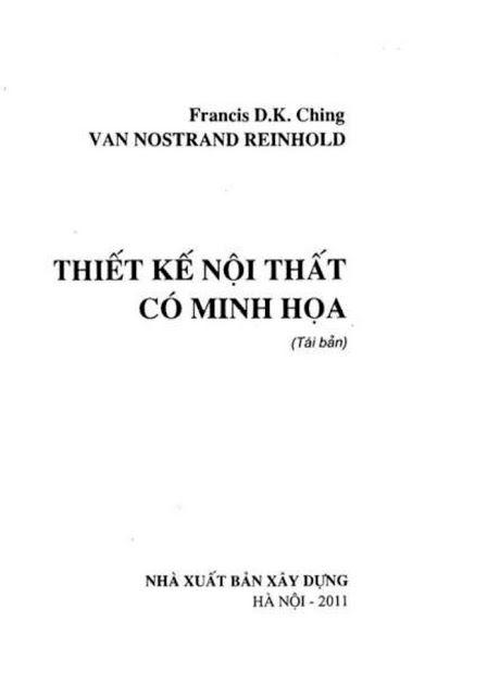 Sách Thiết Kế Nội Thất Có Minh Họa - Francis D.K. Ching