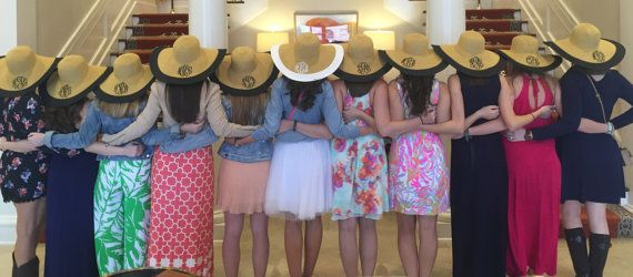 Monogram Floppy Hat Black Floppy Beach Hat by KaileysMonogramShop #wedding #bacheloretteparty #bridalshower