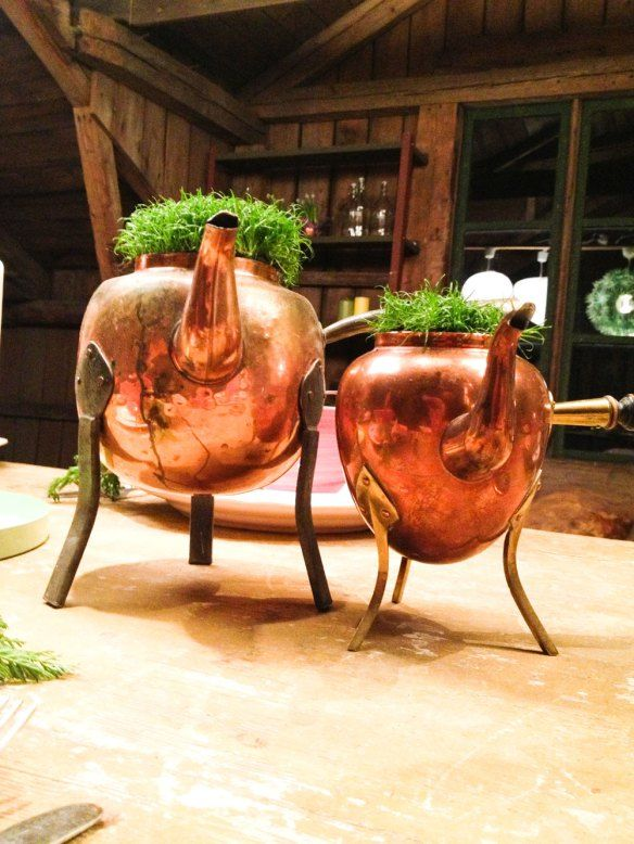 Use your old copper boilers for your plants. DIY