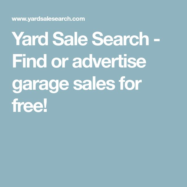 Yard Sale Search - Find or advertise garage sales for free!