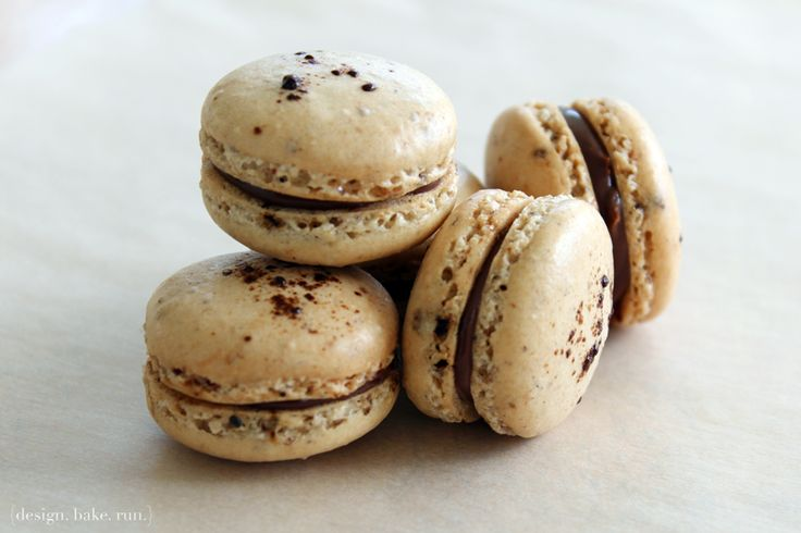 design. bake. run. -- coffee nutella french macarons