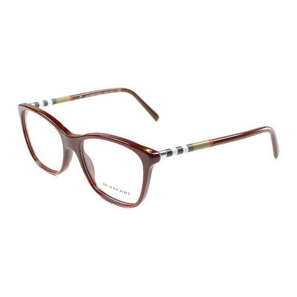 Burberry BE2141 3403 Bordeaux Full Rim Eyeglasses ($144) ❤ liked on Polyvore featuring accessories, eyewear, eyeglasses, plastic eyeglasses, plastic glasses, burberry eyeglasses, burberry glasses and rimmed glasses