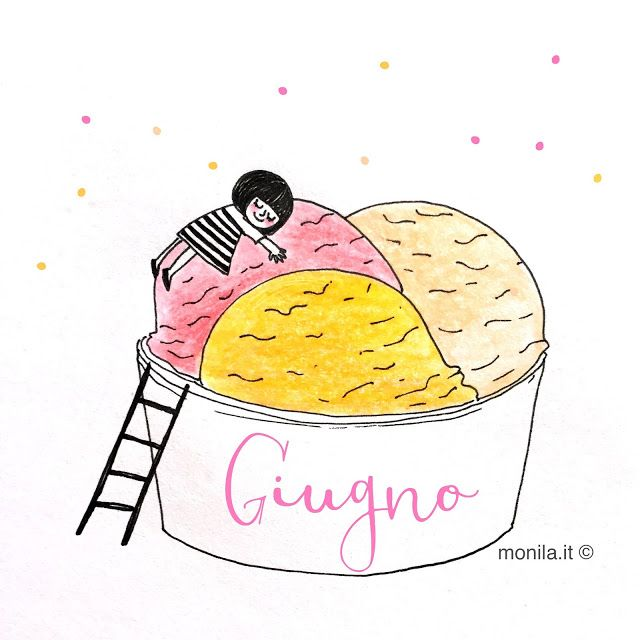 Monila handmade,june,giugno,illustrazione,illustration,gelato,ice cream