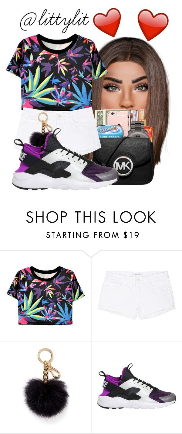 """My Last - Big Sean"" by littylit ❤ liked on Polyvore featuring J Brand, Michael Kors and NIKE"