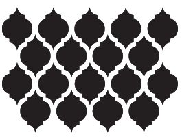 Moroccan Shape decal wall sticker