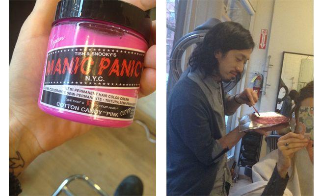 Me encanta el look del pelo rosa