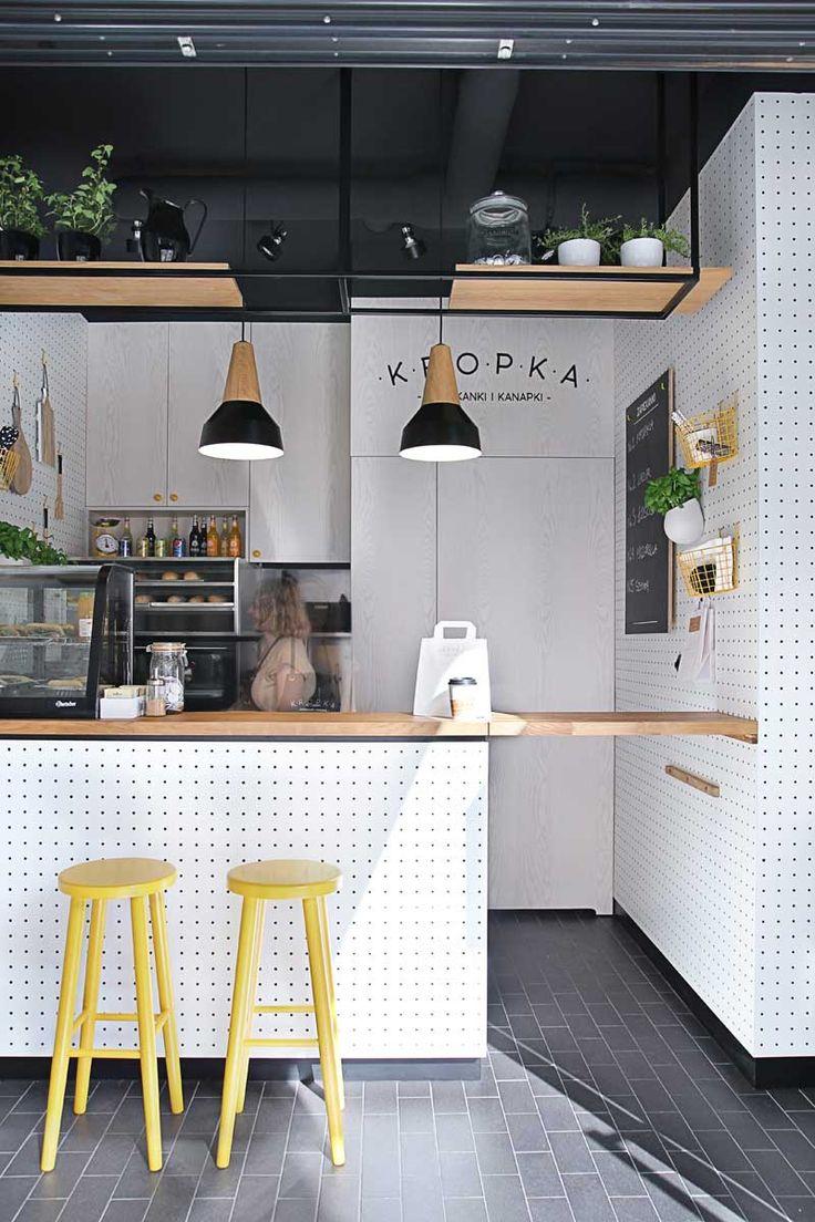 Kropka, Tiny Snack Bar in Poland by PB/Studio and Filip Kozarski.
