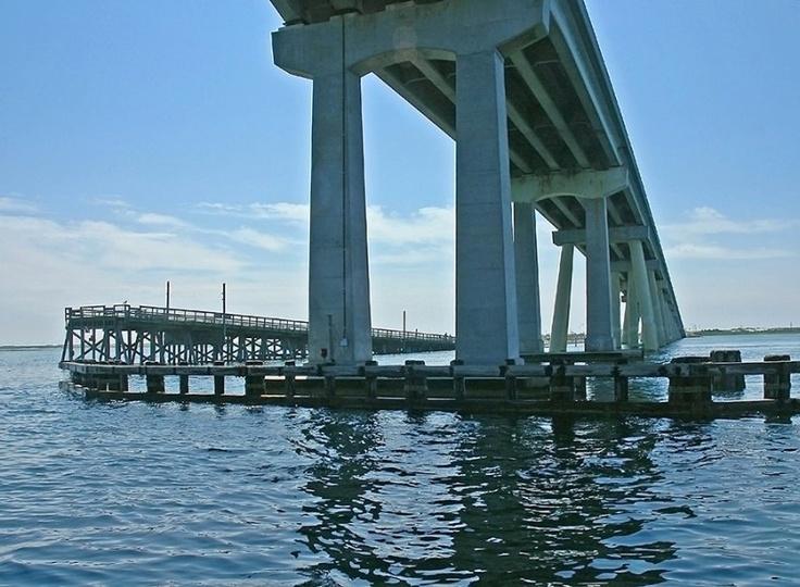 New and Old Ponquogue Bridge Hampton Bays