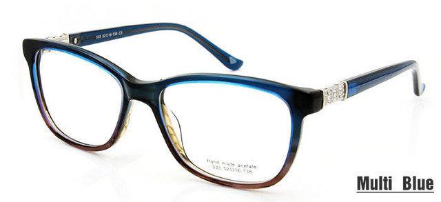 High Quality Fashion oculos feminino Rhinestone Eyeglass Frames Women Optical Eyewear Designer Clear Lens Glasses Spectacles