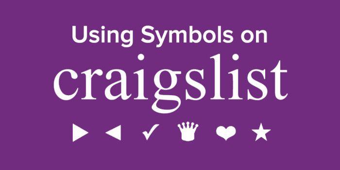 Add HTML Symbols to Your Craigslist Ad Titles