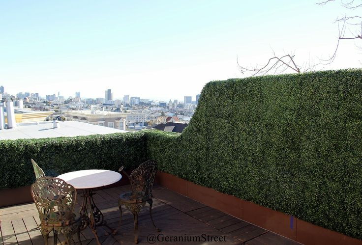 Artificial Hedge Panels for patio boudary and decor,   To see more such like artificial hedges in gardern, patio or deck, please refer to our site below,   www.artificial-hedge.net