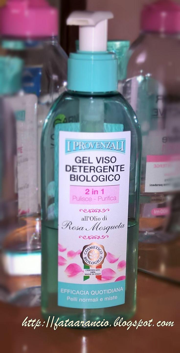 I Provenzali Bio-Gel viso detergente biologico 2in1 all'Olio di Rosa Mosqueta #IProvenzaliBio #geldetergenteviso #rosamosqueta