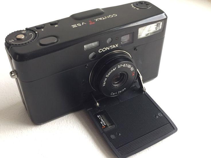 Contax TVS III 35mm Film Camera Rare Black Zeiss