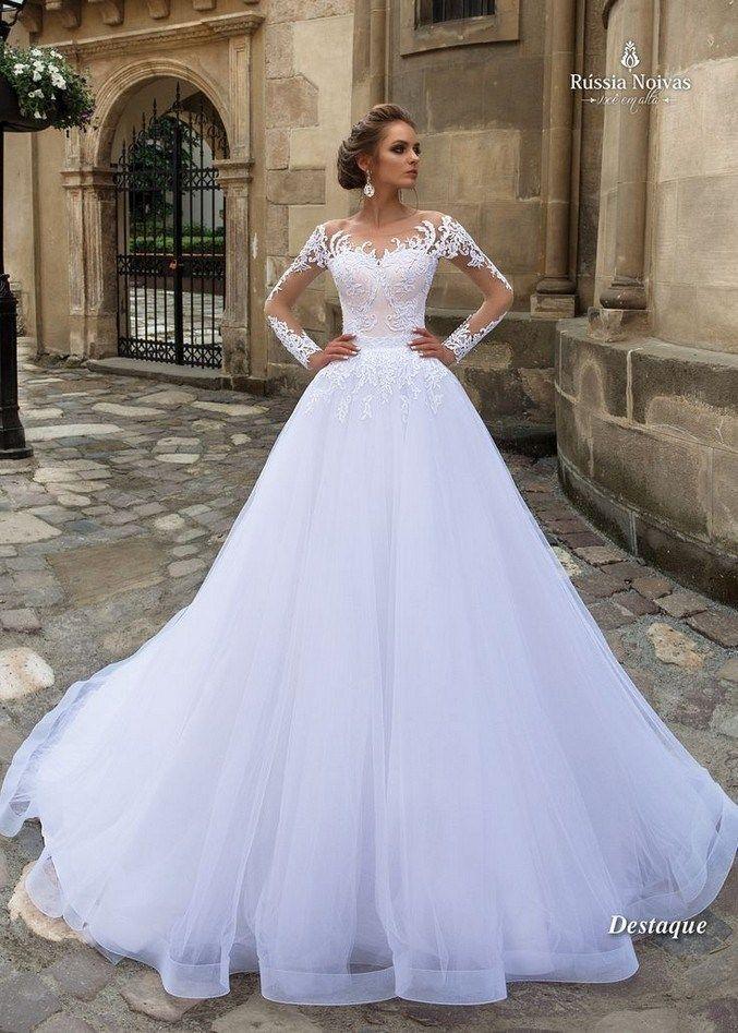 21 illusion long sleeve wedding dresses you'll like 31