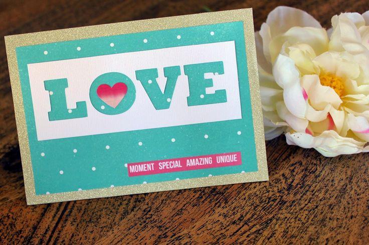 Wedding card #handmade #diy #scrapbooking #wedding # love