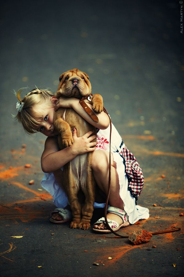 The bond between human and animal begins early.