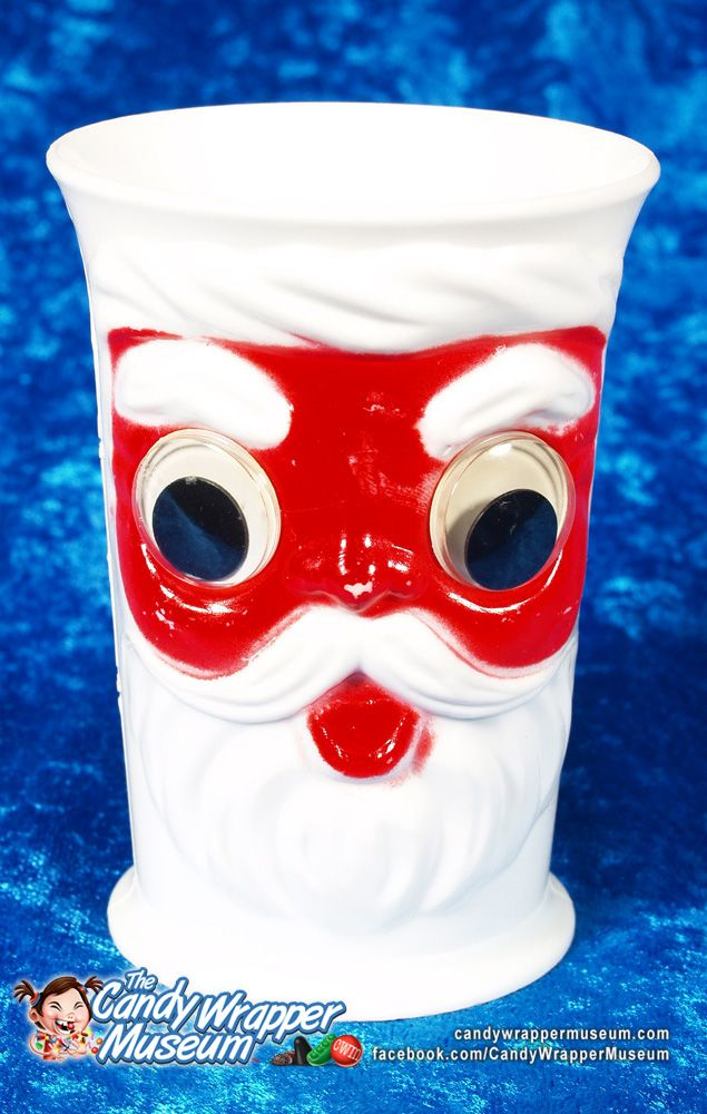 Vintage googly eye santa cup the candy wrapper museum pinterest