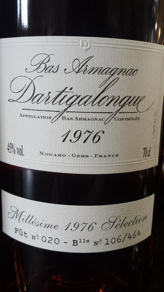 #Spirits of the day // #Spiritueux du jour: #Dartigalongue – 1976 Sélection – Bas #Armagnac (17.25/20) http://vertdevin.com/vin/dartigalongue-1976-selection-bas-armagnac/