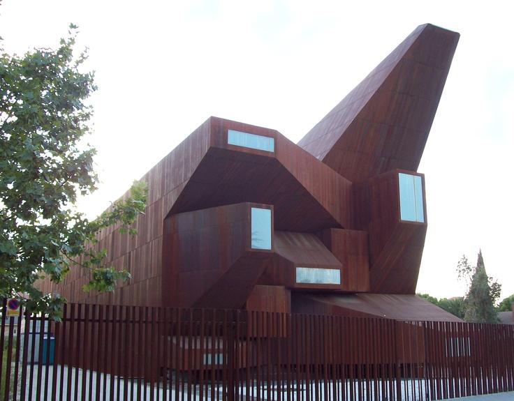 Saint Monica Church (2008) in Rivas-Vaciamadrid, Spain. Projected by architects Ignacio Vicens and José Antonio Ramos