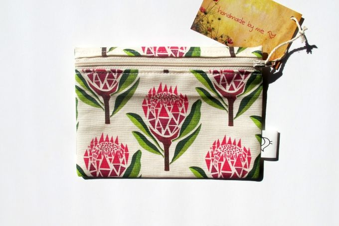 Pretty Proteas Purse by handmade by me on hellopretty.co.za