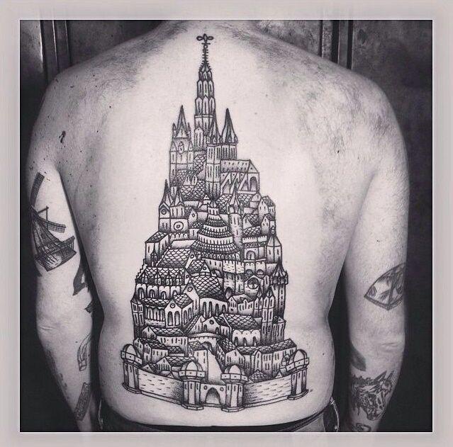 Fantasy city by Liam Sparkes.