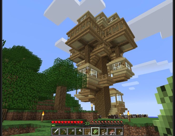 Admirable Super Cool Tree House Minecraft Iyaf Pinterest Largest Home Design Picture Inspirations Pitcheantrous