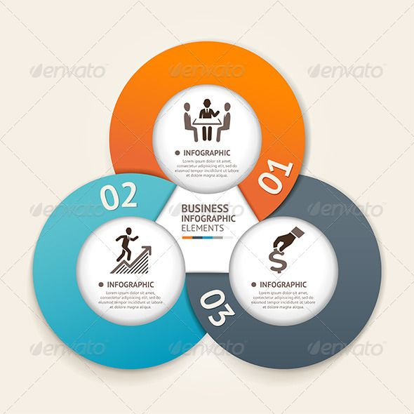 Modern Business Circle Infographic Template - Infographics