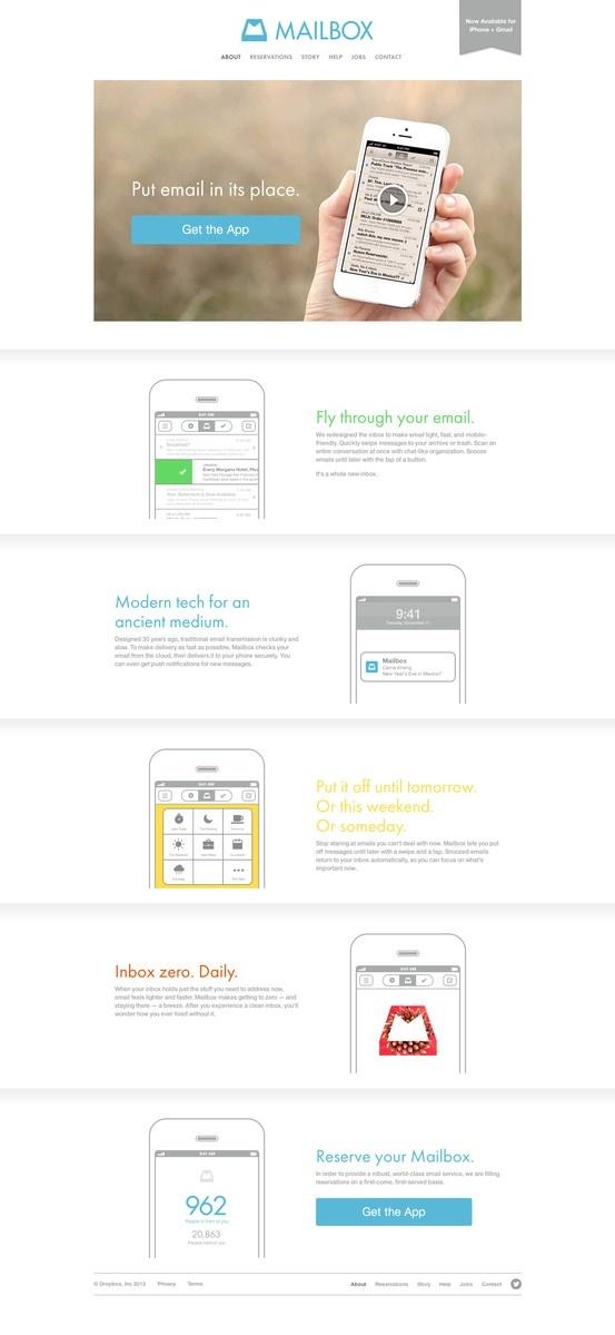 Mailbox App Landing Page