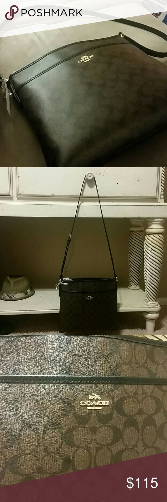 Coach File Cross body Brown Shoulder Bag Womens Coach File Cross body Shoulder Bag. Very nice, excellent condition. Nothing wrong with it, I just don't like how low on me it drops. No trades please. Coach Bags Crossbody Bags