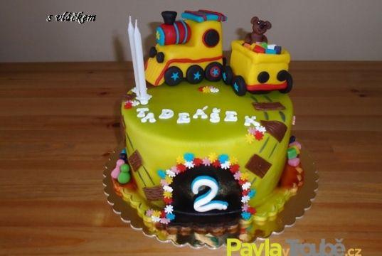 Dětský dort s vláčkem
