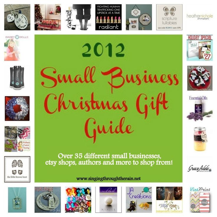 2012 Small Business Christmas Shopping Guide - over 35 different businesses, etsy shops, and authors to browse!