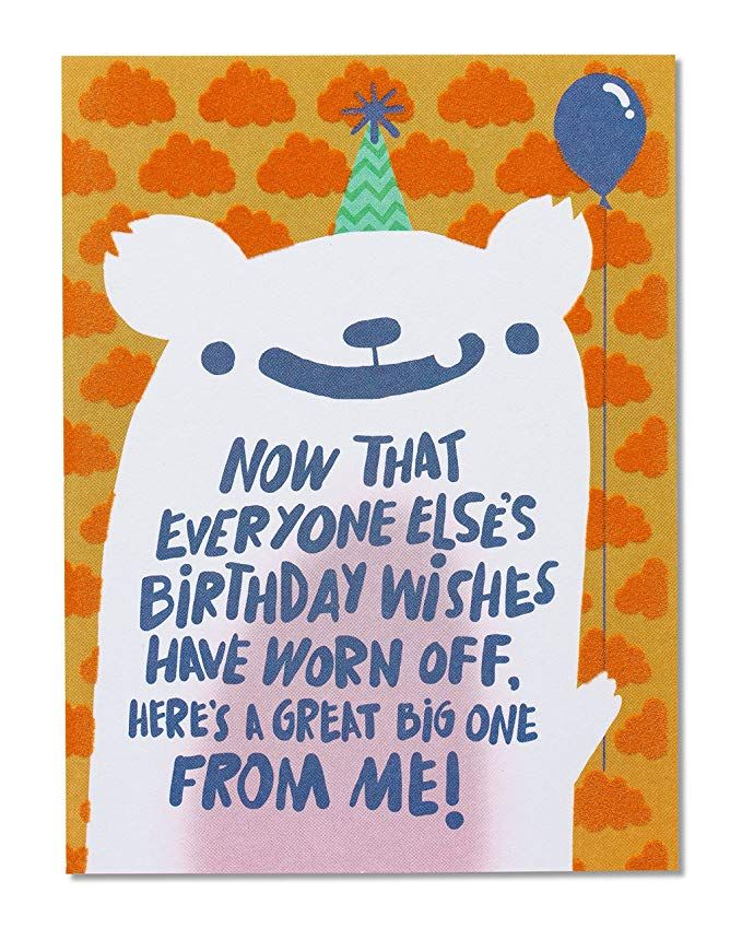 Amazon Com American Greetings Funny Birthday Wishes Belated Birthday Greeting Card With F Late Birthday Wishes Belated Birthday Messages Belated Birthday Card
