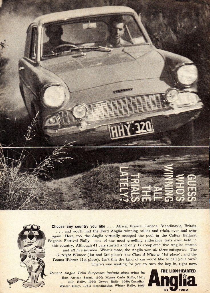 https://flic.kr/p/W8nrqJ | 1961 Ford Anglia 2 Page Aussie Original Magazine Advertisement