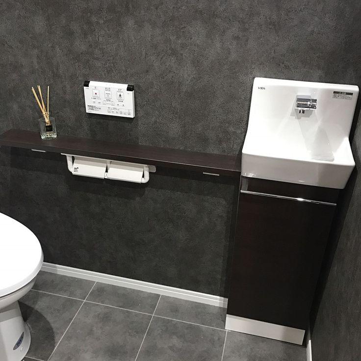Bathroom/アクセントクロス/クッションフロア/壁紙/男前のインテリア実例 - 2016-10-28 23:50:17 | RoomClip (ルームクリップ)
